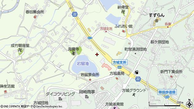 福岡県田川郡福智町弁城周辺の地図