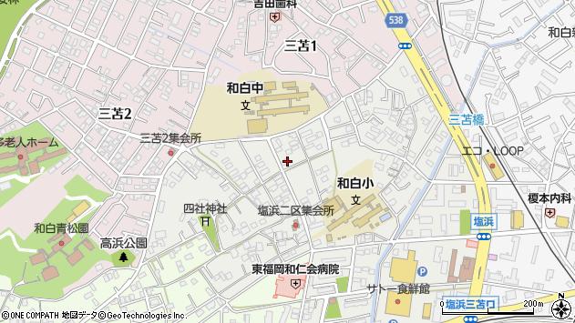 福岡県福岡市東区塩浜周辺の地図