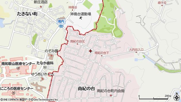 和歌山県西牟婁郡上富田町南紀の台周辺の地図