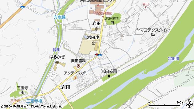 和歌山県西牟婁郡上富田町岩田周辺の地図