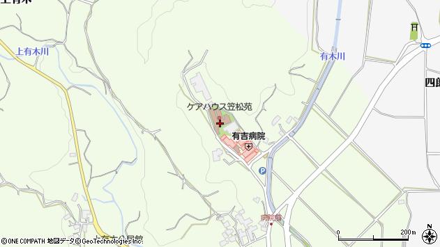 福岡県宮若市上有木周辺の地図