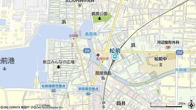 愛媛県伊予郡松前町筒井周辺の地図