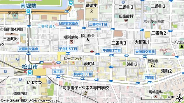 愛媛県松山市千舟町4丁目5周辺の地図