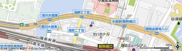 福岡県北九州市小倉北区浅野2丁目周辺の地図