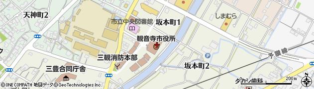 香川県観音寺市周辺の地図