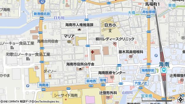 和歌山県海南市周辺の地図