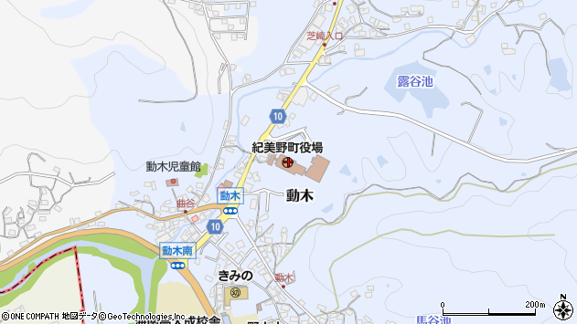 和歌山県海草郡紀美野町周辺の地図