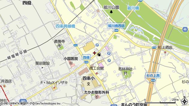香川県仲多度郡まんのう町吉野下周辺の地図