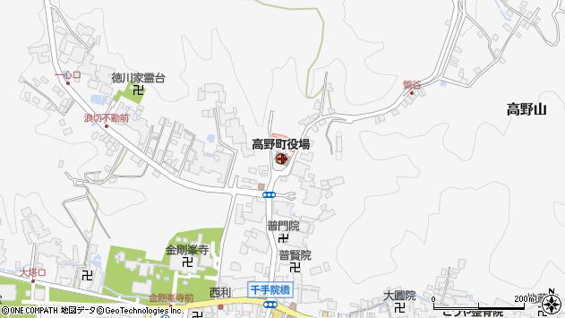和歌山県伊都郡高野町周辺の地図