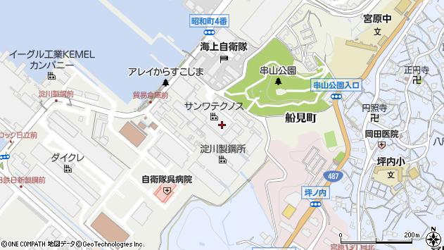 広島県呉市昭和町周辺の地図