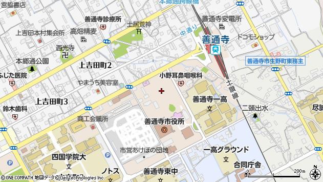 香川県善通寺市周辺の地図