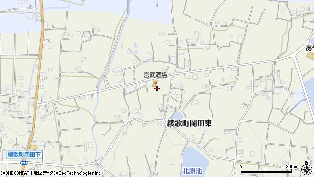 香川県丸亀市綾歌町岡田東下新開西周辺の地図