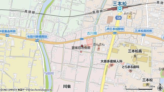 香川県東かがわ市川東周辺の地図