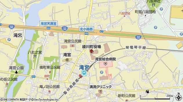 香川県綾歌郡綾川町周辺の地図