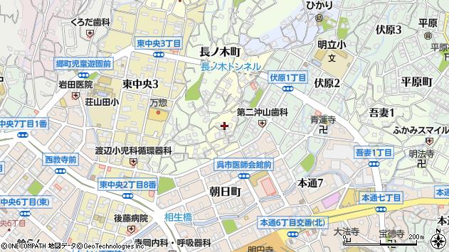 広島県呉市下山田町周辺の地図