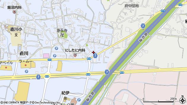 和歌山県和歌山市直川周辺の地図