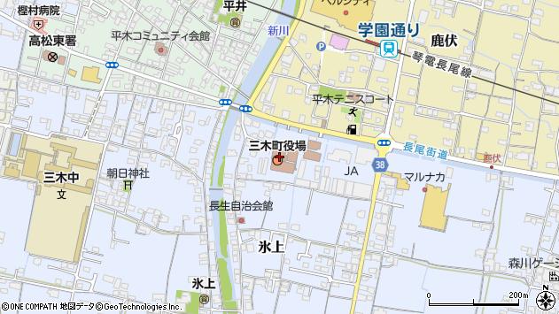 香川県木田郡三木町周辺の地図