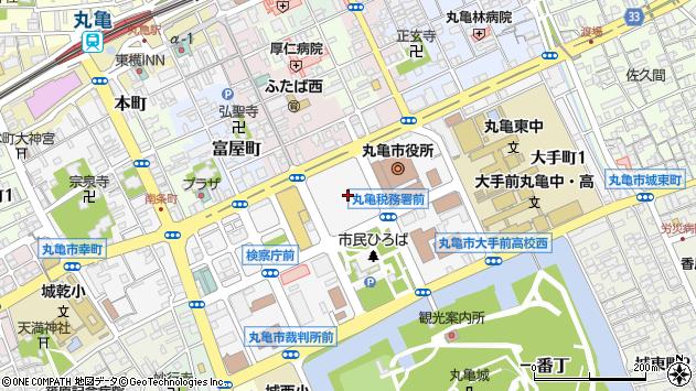 香川県丸亀市周辺の地図