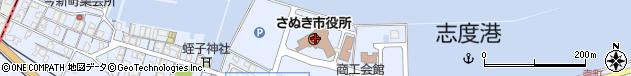 香川県さぬき市周辺の地図