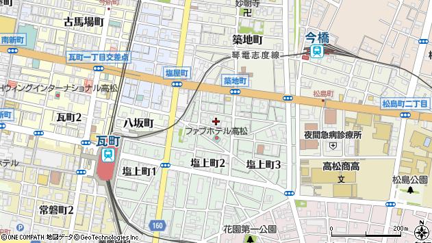 香川県高松市塩上町2丁目3周辺の地図