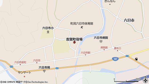島根県鹿足郡吉賀町周辺の地図