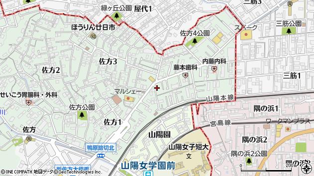 広島県廿日市市佐方周辺の地図