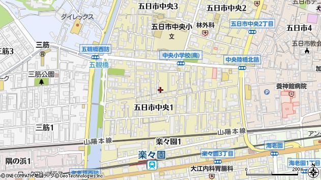 広島県広島市佐伯区五日市中央周辺の地図