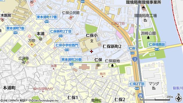 広島県広島市南区仁保新町2丁目周辺の地図