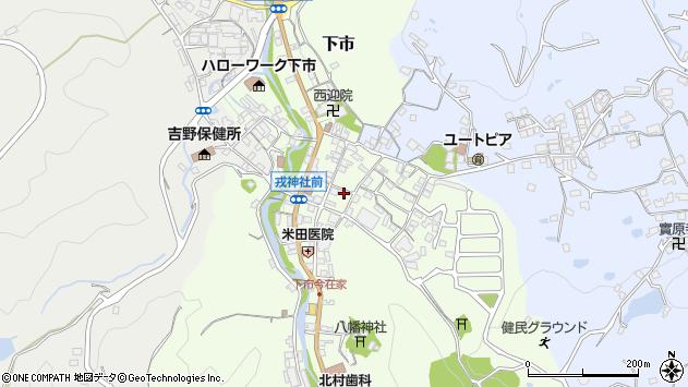 奈良県吉野郡下市町下市周辺の地図