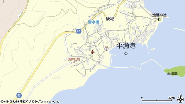 広島県福山市鞆町後地周辺の地図