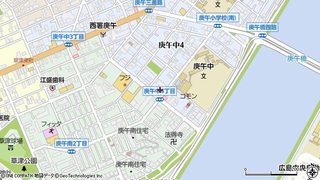 広島県広島市西区庚午中4丁目16-18周辺の地図