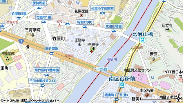 広島県広島市中区昭和町周辺の地図
