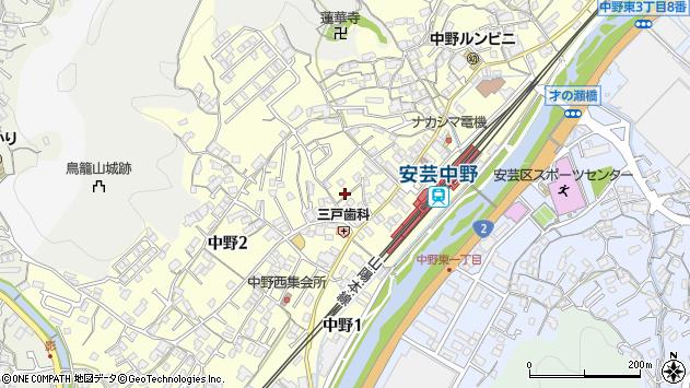 広島県広島市安芸区中野 地図(住所一覧から検索) :マピオン