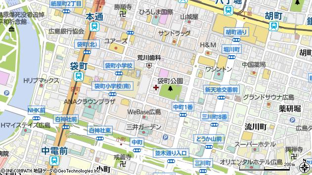 広島県広島市中区袋町8周辺の地図