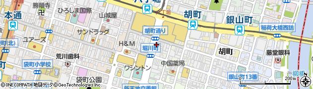 広島県広島市中区堀川町4周辺の地図