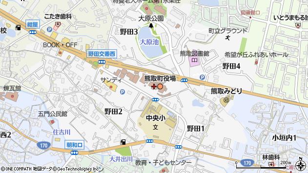 大阪府泉南郡熊取町周辺の地図