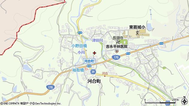 大阪府岸和田市河合町周辺の地図