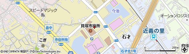 大阪府貝塚市周辺の地図
