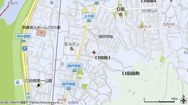 広島県広島市安佐北区口田南3丁目周辺の地図