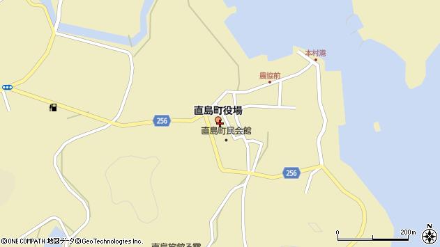 香川県香川郡直島町周辺の地図