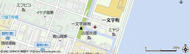 広島県福山市一文字町周辺の地図