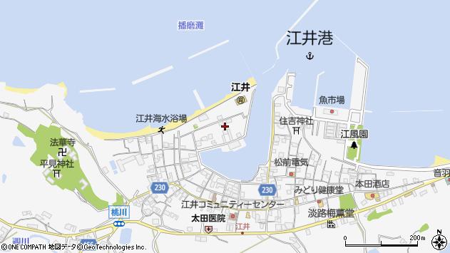 兵庫県淡路市江井鍵之町周辺の地図