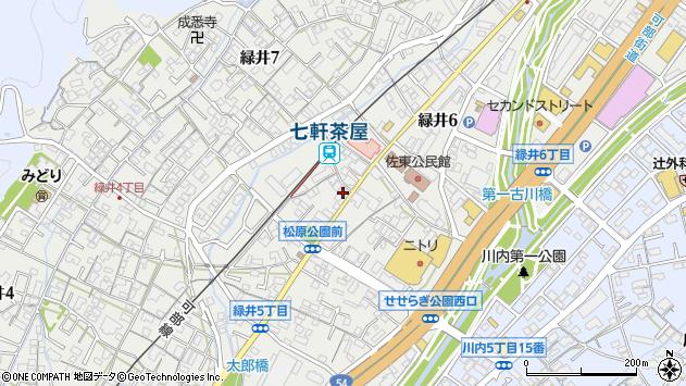 広島県広島市安佐南区緑井6丁目周辺の地図