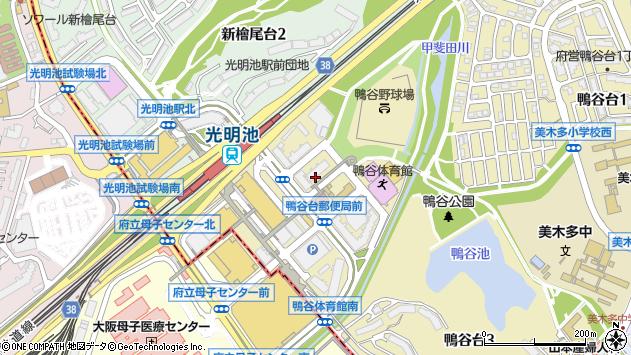 大阪府堺市南区鴨谷台2丁3-3周辺の地図