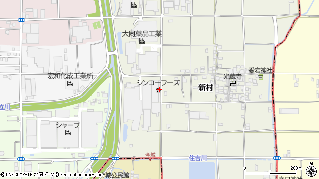 奈良県葛城市新村351周辺の地図