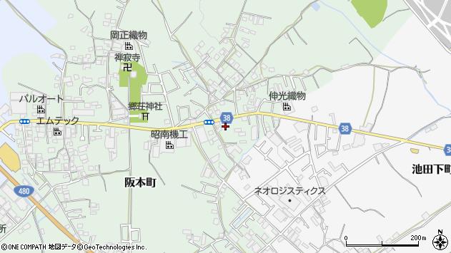 大阪府和泉市東阪本町周辺の地図