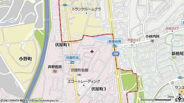 大阪府和泉市伏屋町周辺の地図