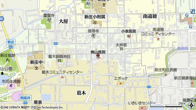 奈良県葛城市新庄桑之町二丁目周辺の地図