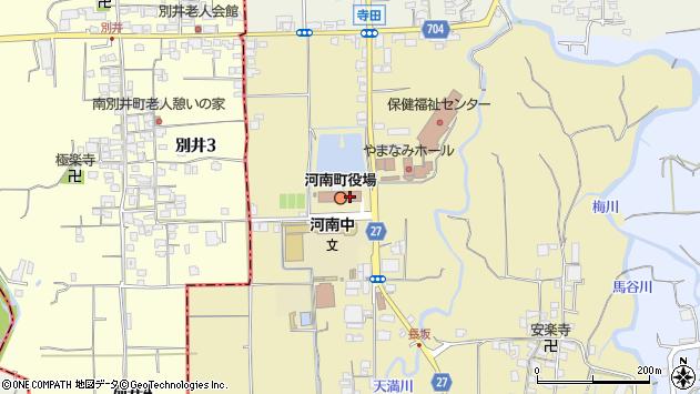 大阪府南河内郡河南町周辺の地図