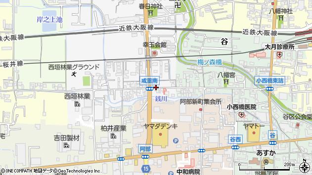 奈良県桜井市戒重戒重東之町周辺の地図